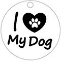 Адресник i love my dog средний 30x30мм